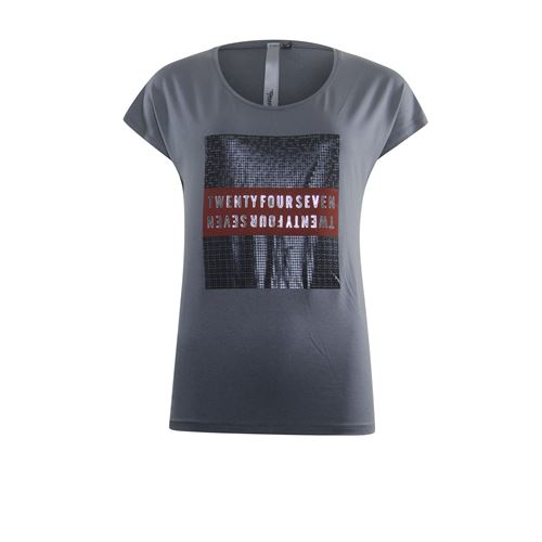 Poools ladieswear t-shirts & tops - t-shirt artwork. available in size  (grey)