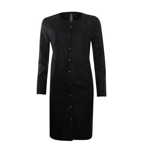 Poools dameskleding jurken - jurk doorknoop. beschikbaar in maat 38,40,42,44,46 (zwart)