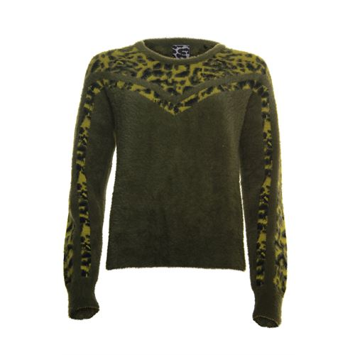 Poools ladieswear pullovers & vests - sweater contrast. available in size  (olive)