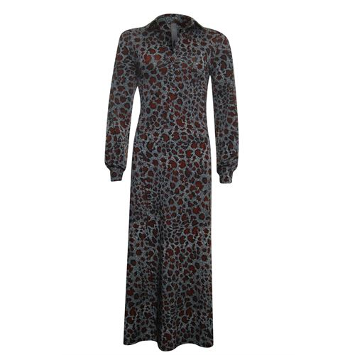 Poools ladieswear dresses - maxi dress print. available in size 36,38,40,42,44 (brown,grey,multicolor,red)
