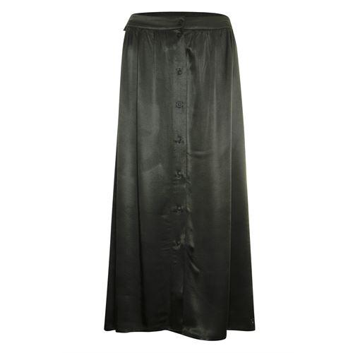 Poools dameskleding rokken - rok satijn. beschikbaar in maat 36,38,40,42,44 (olijf)