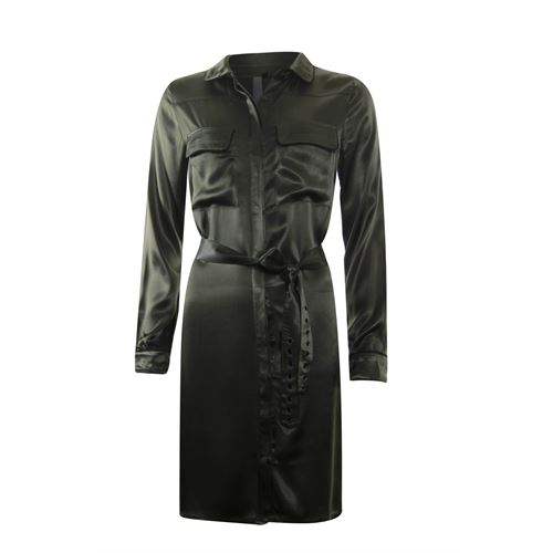 Poools ladieswear dresses - dress satin. available in size 36,40,42,44,46 (olive)