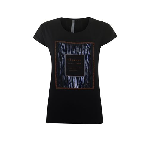 Poools ladieswear t-shirts & tops - t-shirt flaneur. available in size 40,42 (black)