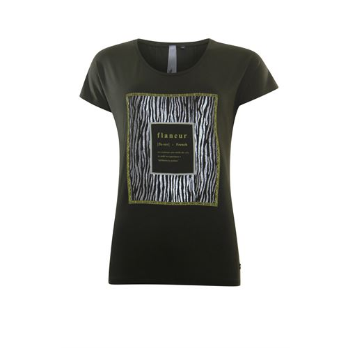 Poools ladieswear t-shirts & tops - t-shirt flaneur. available in size 40,44 (olive)