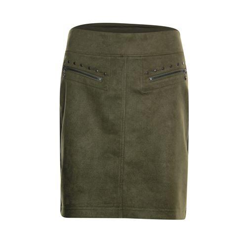 Poools dameskleding rokken - skirt zips. beschikbaar in maat 38,40,42,46 (olijf)