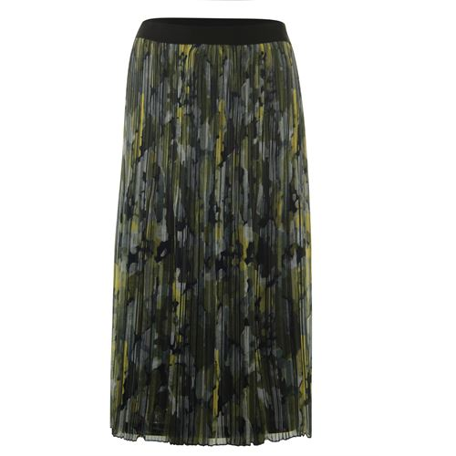 Poools ladieswear skirts - skirt print plissé. available in size 36,38,40,42,44 (black,multicolor,olive,red)