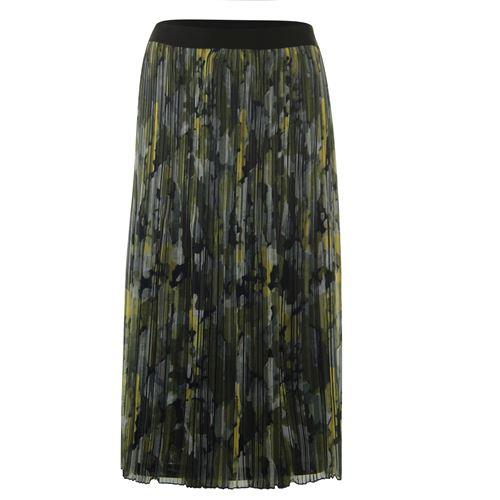 Poools dameskleding rokken - skirt print plissé. beschikbaar in maat 36,38,40,42,44,46 (multicolor,olijf,rood,zwart)