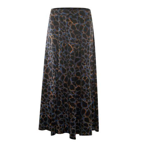 Poools dameskleding rokken - skirt cracked earth. beschikbaar in maat  (blauw,bruin,multicolor,zwart)