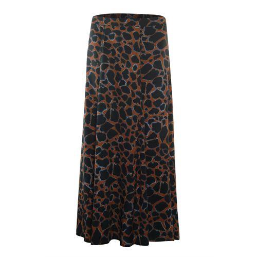 Poools dameskleding rokken - skirt cracked earth. beschikbaar in maat 38,40,42,44,46 (blauw,bruin,multicolor,zwart)