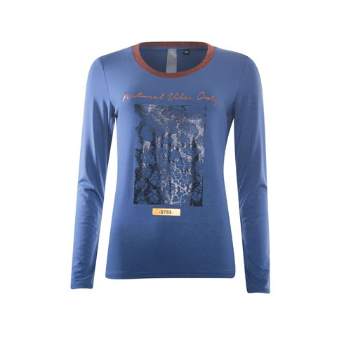 Poools ladieswear t-shirts & tops - t-shirt vibes. available in size 36,38,40,42,44,46 (blue)