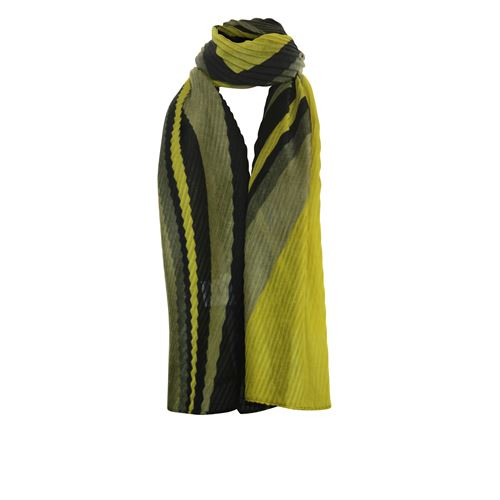 Poools ladieswear accessories - scarf plisée. available in size  (olive)