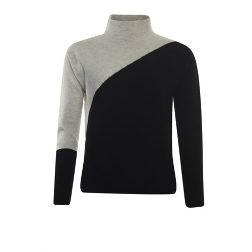 Poools ladieswear pullovers & vests - sweater colour block. available in size 36,38,40,44 (black)