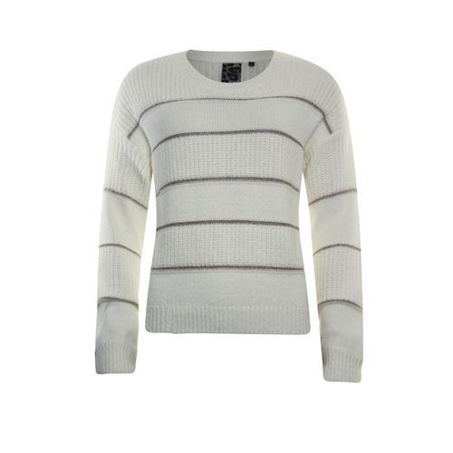 Poools ladieswear pullovers & vests - sweater lurex stripe. available in size 36,38,40,42,44 (off-white)