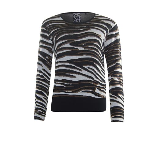Poools ladieswear pullovers & vests - sweater zebra jacquard. available in size 36,40 (off-white)