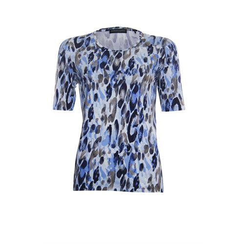 Roberto Sarto ladieswear t-shirts & tops - t-shirt o-neck. available in size 38,40,42,44,46 (blue,multicolor)