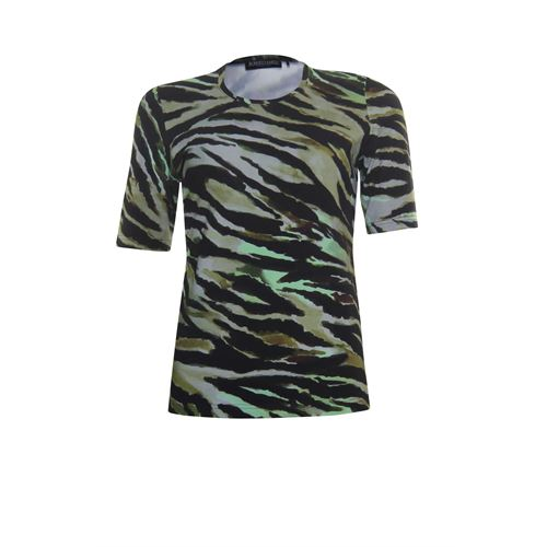 Roberto Sarto ladieswear t-shirts & tops - t-shirt o-neck. available in size 38,40,42,44,46,48 (green,multicolor,olive)