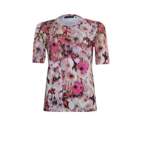 Roberto Sarto ladieswear t-shirts & tops - t-shirt o-neck. available in size 38,40,42,44,46,48 (brown,multicolor,rose)