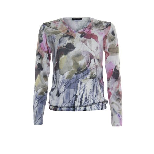 Roberto Sarto ladieswear pullovers & vests - pullover v-neck. available in size 38,42,46,48 (blue,brown,multicolor,rose)