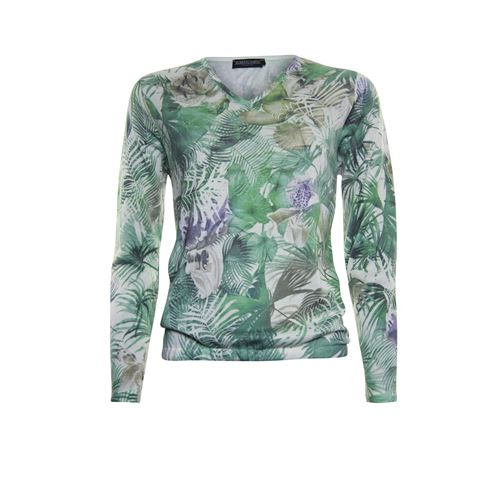 Roberto Sarto ladieswear pullovers & vests - pullover v-neck. available in size 38,40,42,44,46,48 (green,multicolor)