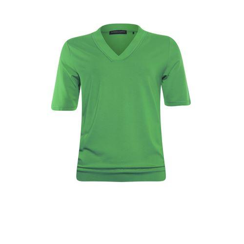 Roberto Sarto dameskleding t-shirts & tops - blouson met v-hals. beschikbaar in maat 38,44,46,48 (groen)