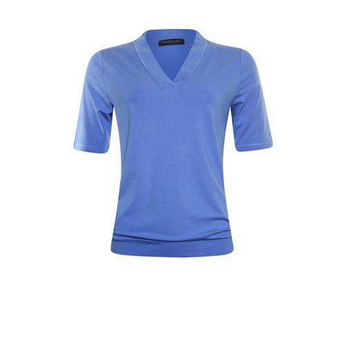 Roberto Sarto ladieswear t-shirts & tops - blouson v-neck. available in size 38,40,42,44,48 (blue)