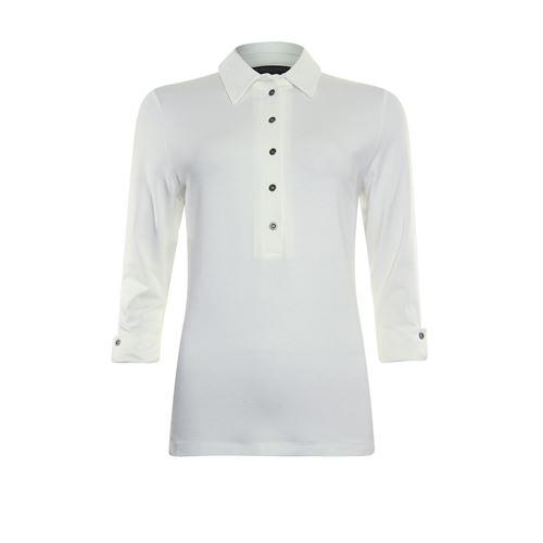 Roberto Sarto dameskleding t-shirts & tops - t-shirt polo. beschikbaar in maat 38,40,42,44,46,48 (ecru)