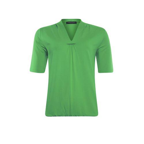 Roberto Sarto dameskleding t-shirts & tops - t-shirt met v-hals. beschikbaar in maat 38,40,42,44,46,48 (groen)