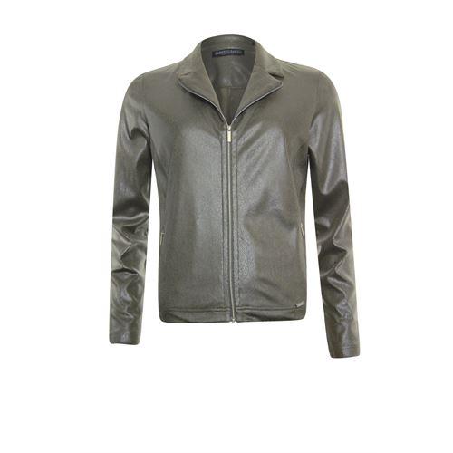 Roberto Sarto dameskleding truien & vesten - vest met rits. beschikbaar in maat 38,40,42,44,46,48 (olijf)