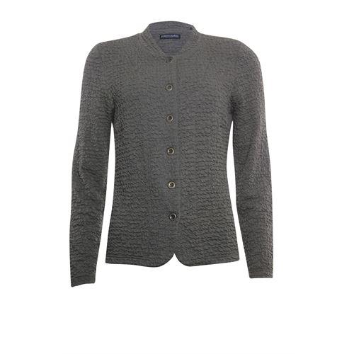 Roberto Sarto dameskleding truien & vesten - vest met ronde hals. beschikbaar in maat 38,40,42,44,46,48 (olijf)