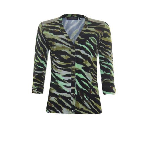 Roberto Sarto dameskleding truien & vesten - vest met v-hals. beschikbaar in maat 38,40,42,44,46,48 (groen,multicolor,olijf)