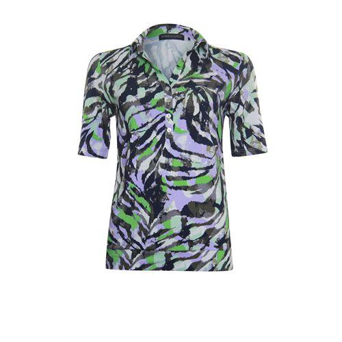 Roberto Sarto dameskleding t-shirts & tops - polo shirt. beschikbaar in maat 38,40,42,44,46,48 (groen,multicolor,olijf)