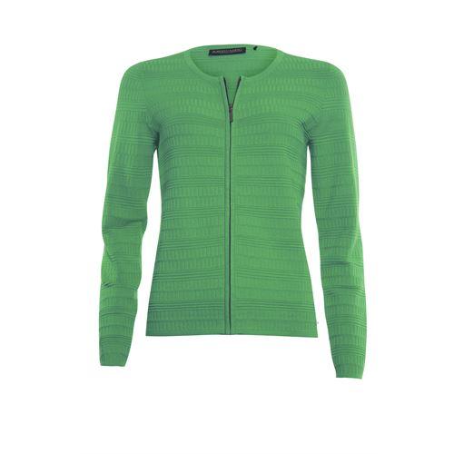 Roberto Sarto dameskleding truien & vesten - vest met ronde hals en rits. beschikbaar in maat 38,40,42,44,46 (groen)