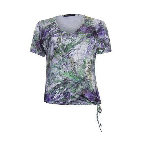 Roberto Sarto dameskleding t-shirts & tops - t-shirt met v-hals. beschikbaar in maat 38,40,42,44,46,48 (ecru,groen,multicolor)