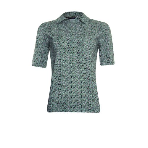 Roberto Sarto dameskleding t-shirts & tops - t-shirt polo met print. beschikbaar in maat 38,40,42,44,46,48 (multicolor)