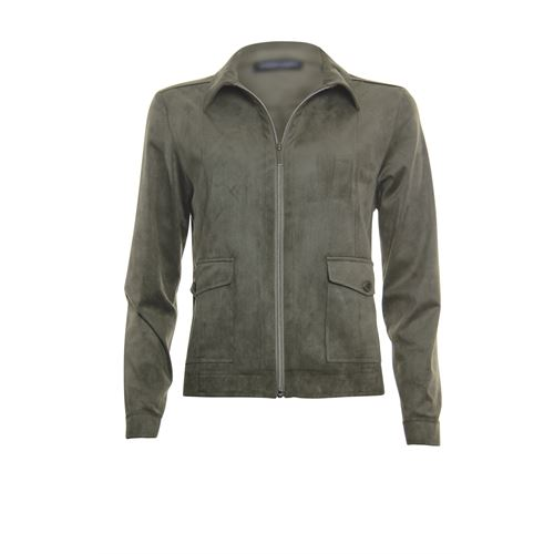 Roberto Sarto ladieswear coats & jackets - jacket polo with zipper. available in size 38,40,42,44,46,48 (olive)