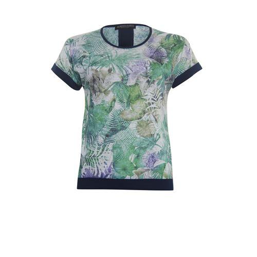 Roberto Sarto dameskleding t-shirts & tops - t-shirt met ronde hals. beschikbaar in maat 38,40,42,44,46,48 (groen,multicolor)