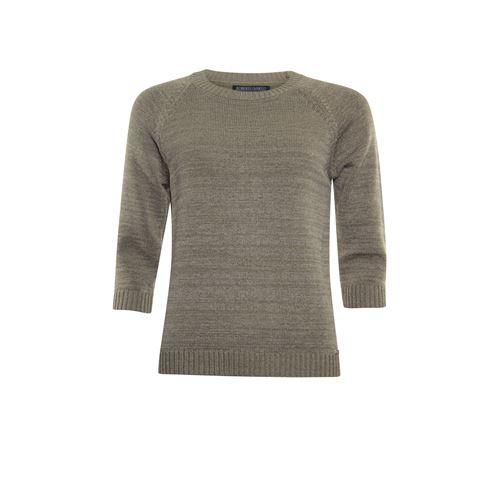 Roberto Sarto dameskleding truien & vesten - pullover ronde hals 3/4 mouw. beschikbaar in maat 38,40,42,44,46,48 (bruin)