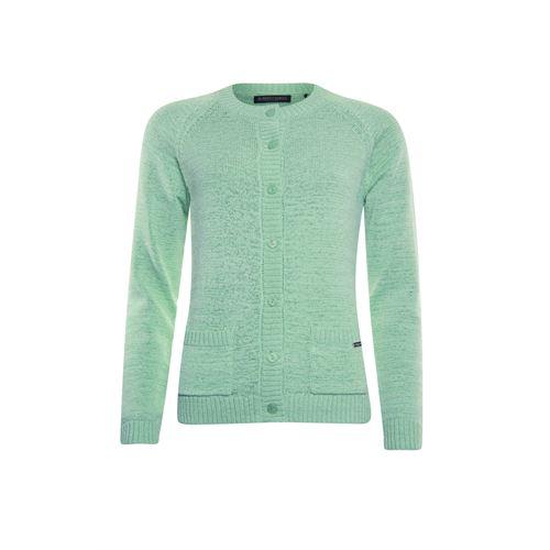 Roberto Sarto dameskleding truien & vesten - vest met ronde hals 3/4 mouw. beschikbaar in maat 38,40,42,44,46,48 (groen)