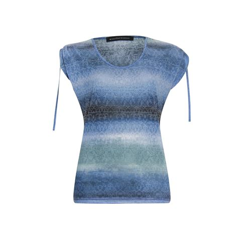 Anotherwoman ladieswear t-shirts & tops - t-shirt v-neck. available in size 38,40,42,44,46 (blue,green,multicolor)