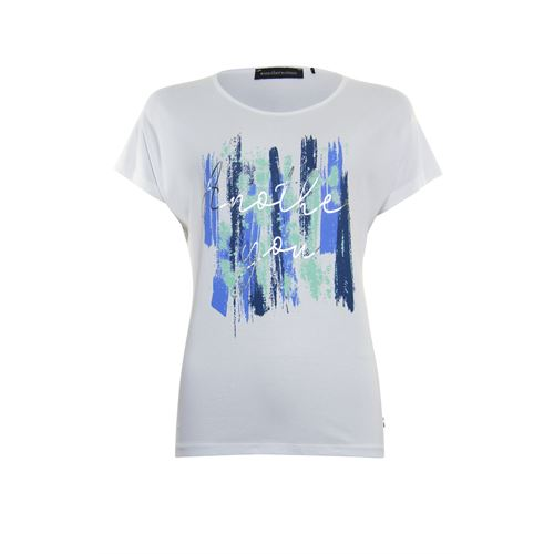 Anotherwoman ladieswear t-shirts & tops - t-shirt o-neck. available in size 38,40,42,44,46 (multicolor,white)