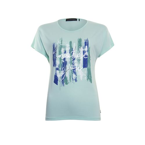 Anotherwoman ladieswear t-shirts & tops - t-shirt o-neck. available in size 36,38,40,42,44 (green,multicolor)
