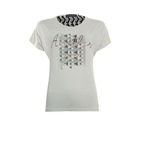 Anotherwoman ladieswear t-shirts & tops - t-shirt o-neck. available in size 36,38,40,42,44,46 (multicolor,off-white)