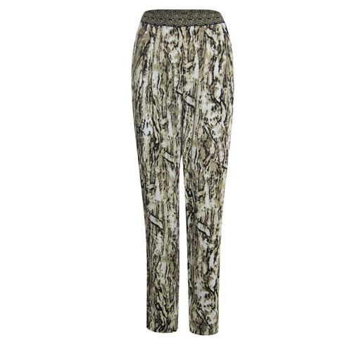 Anotherwoman ladieswear trousers - pants printed. available in size 36,38,40,42,44,46 (brown,multicolor)