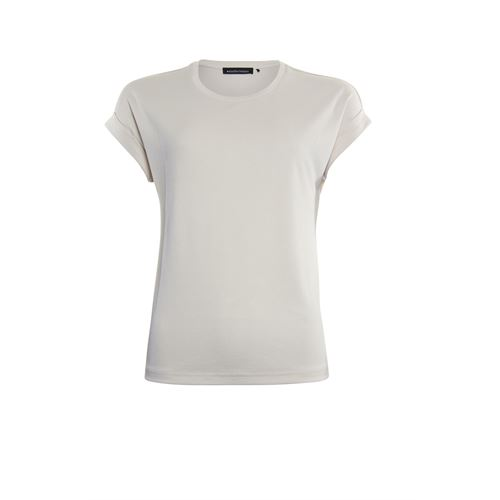 Anotherwoman ladieswear t-shirts & tops - t-shirt o-neck. available in size 36,38,40,42,44,46 (off-white)