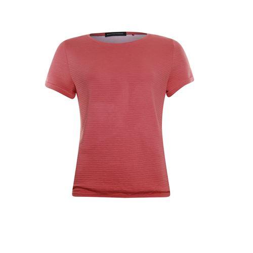 Anotherwoman dameskleding t-shirts & tops - t-shirt ronde hals. beschikbaar in maat  (rood)