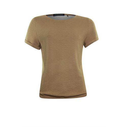 Anotherwoman dameskleding t-shirts & tops - t-shirt ronde hals. beschikbaar in maat 42 (bruin)
