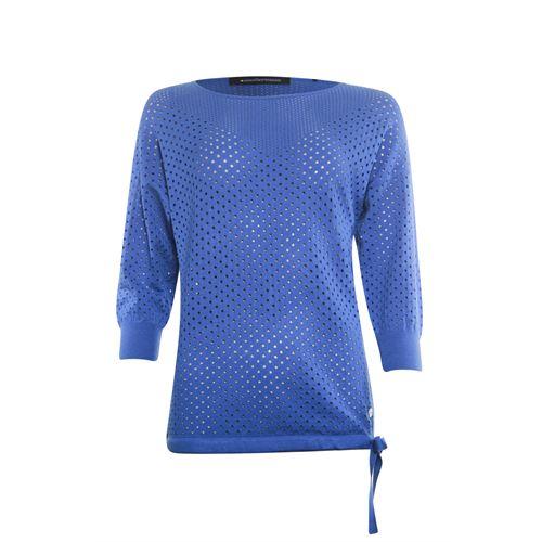 Anotherwoman dameskleding truien & vesten - pullover ronde hals. beschikbaar in maat 38,40,42,44 (blauw)