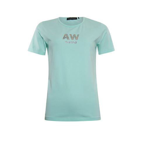 Anotherwoman ladieswear t-shirts & tops - t-shirt o-neck. available in size 36,38,40,42,44,46 (blue,multicolor)