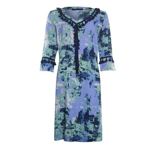 Anotherwoman dameskleding jurken - jurk 3/4 mouw. beschikbaar in maat 36,38,40,42,44,46 (blauw,groen,multicolor,wit)