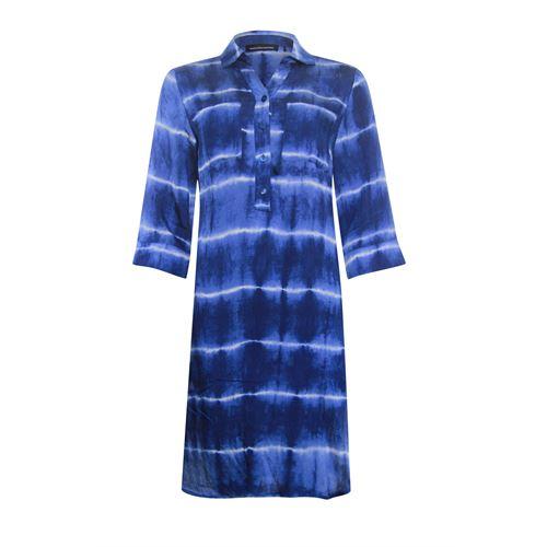 Anotherwoman dameskleding jurken - jurk met 3/4 mouw. beschikbaar in maat 38,44,46 (blauw,multicolor,wit)